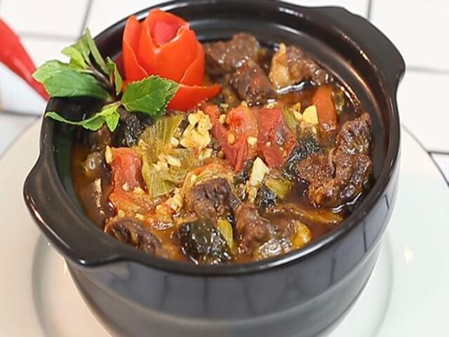 Công thức làm món thịt bò kho dưa