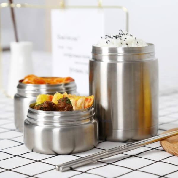 Hộp cơm giữ nhiệt Lock&Lock bằng thép không gỉ