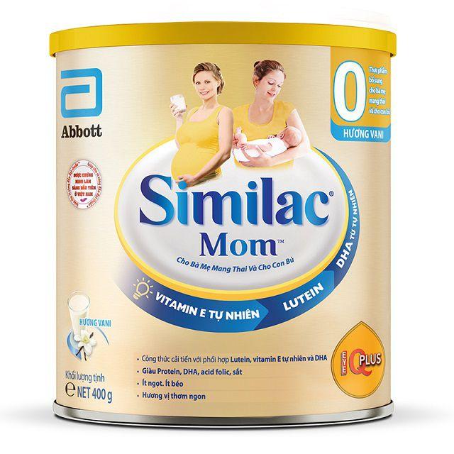Sữa bầu Similac Mom có hai hương vị: sữa chua dâu và vani rất dễ uống