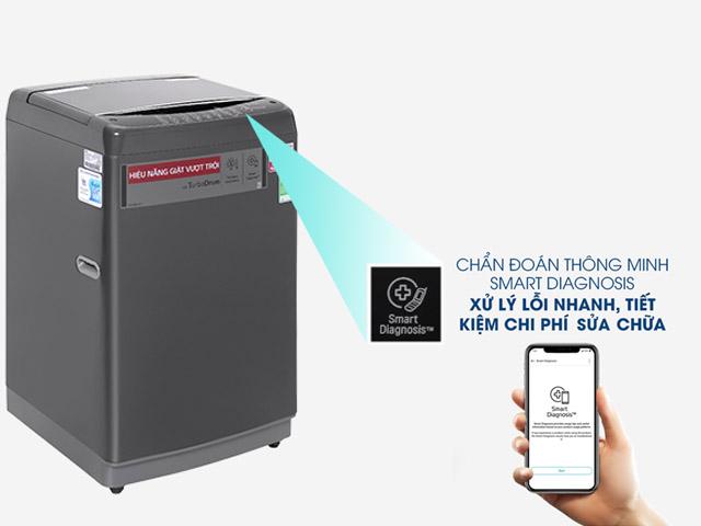 LG Smart Inverter™ Máy giặt lồng đứng 9kg (Đen) T2109VSAB