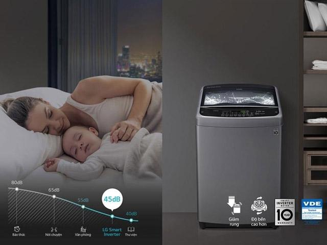 LG Smart Inverter™ Máy giặt lồng đứng 10.5kg (Đen) T2350VSAB