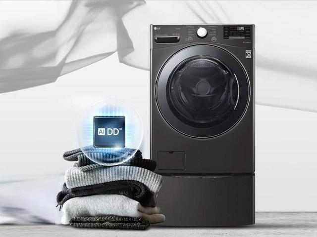 LG Smart Inverter™ Máy giặt lồng đứng 11.5kg (Đen) T2351VSAB