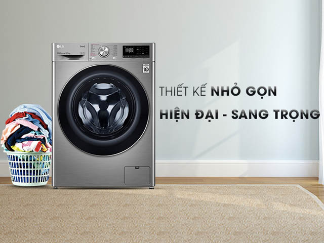 LG AI DD™ Máy giặt lồng ngang 10.5kg (xám) FV1450S3V