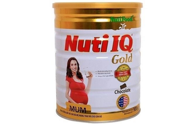 Thành phần có trong sữa bầu Nuti IQ Mum Gold rất cân bằng và đầy đủ