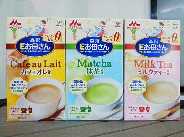 Sữa bầu Morinaga có 3 hương vị trà xanh, sữa chua và bánh quy