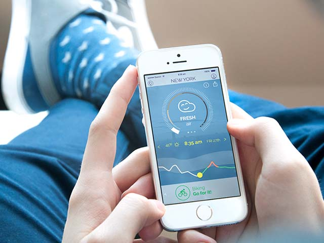 App đo ô nhiễm không khí AIR by Plume Labs