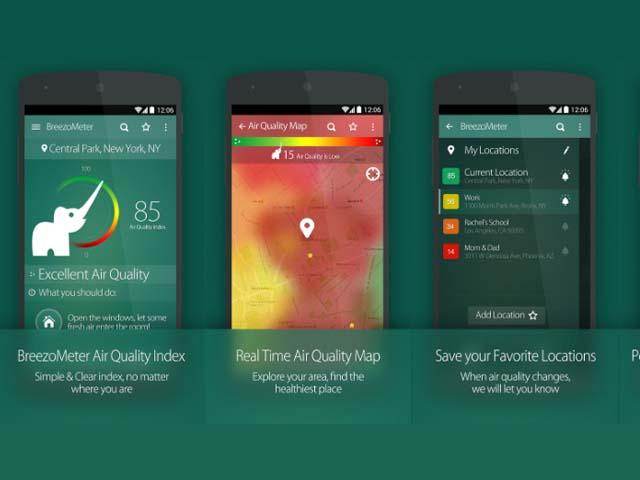 App đo ô nhiễm không khí BreezoMeter Air Quality Index