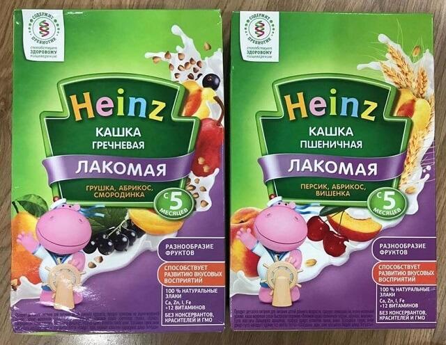 Bột ăn dặm Heinz cho trẻ 5 tháng tuổi