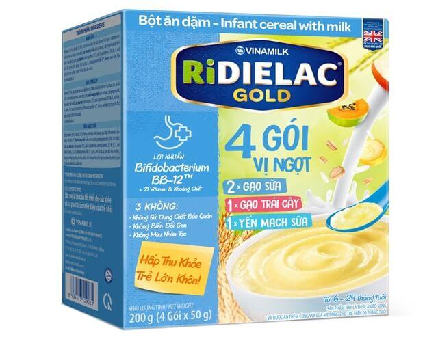 Ridielac là dòng sản phẩm bột ăn dặm đến từ Việt Nam được đánh giá cao