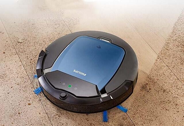 Mẫu robot hút bụi Philips FC8830 này vừa có thể hút bụi vừa có thể lau nhà được