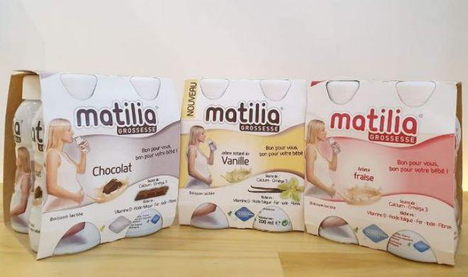 Sữa bầu Matilia có 3 vị là socola, vani, sữa chua dâu
