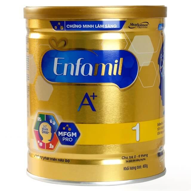 Sữa Enfamil A+ số 1 phù hợp với trẻ sơ sinh từ 0 - 6 tháng tuổi