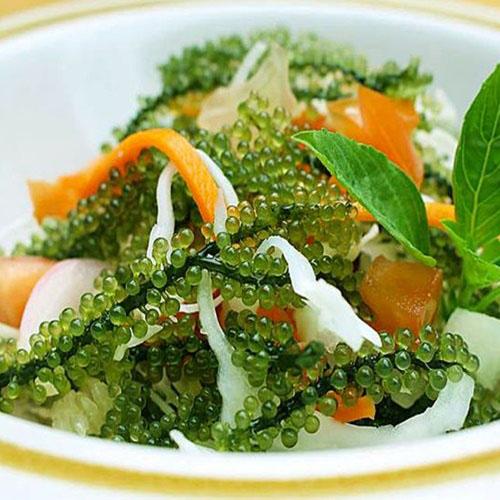 Salad rong nho sốt mè cực ngon
