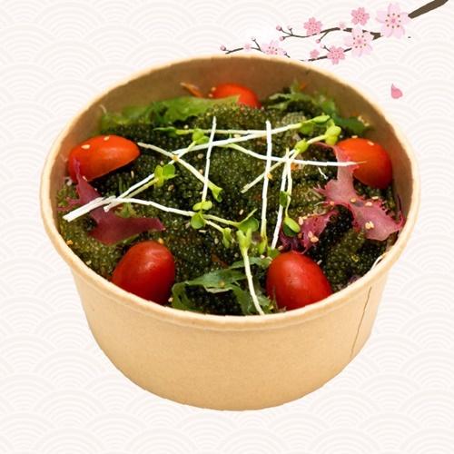 Salad rong nho sốt mè rang bắt mắt